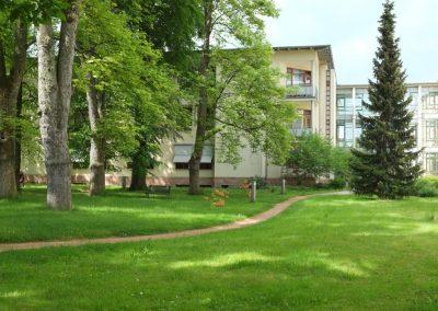 Außenanlage der Kurzzeitpflege Rochlitz
