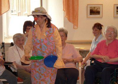 Clowntherapie im Altenheim Schweikershain